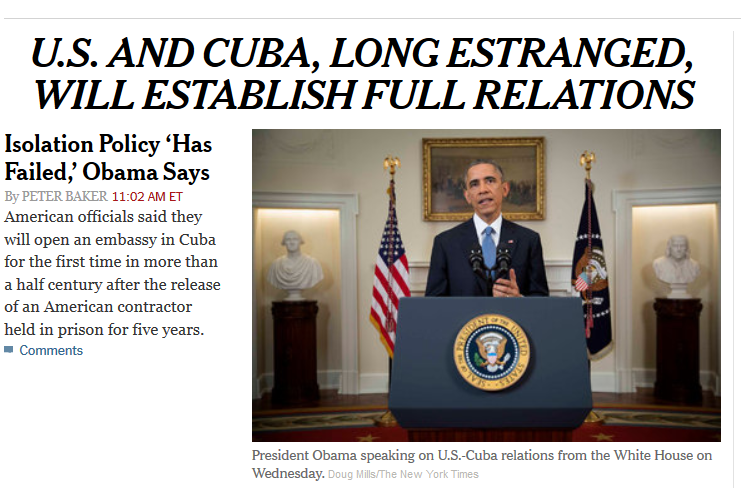 cubaopenrelationswith USA