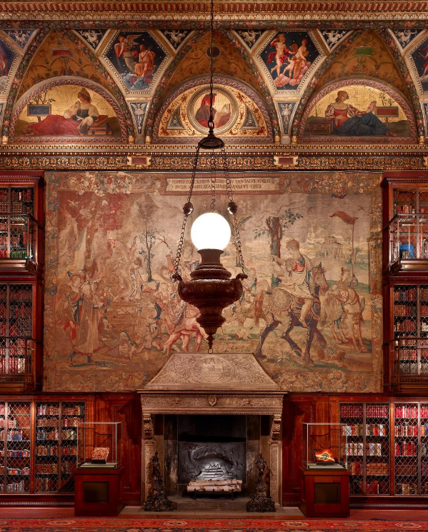 morgan-library-fireplace